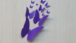 Papillons en papier pour décorer le mur Étape 4
