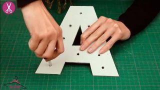 Comment faire des lettres en carton lumineuses - Étape 3