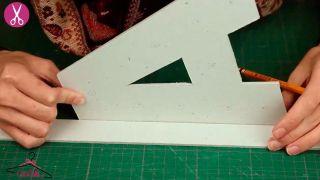 Comment faire des lettres en carton lumineuses - Étape 2