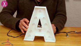 Comment faire des lettres en carton lumineuses - Étape 6
