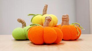 Comment faire des citrouilles en tissu!  Spécial automne et Halloween