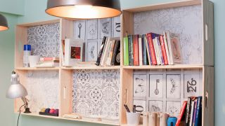 Décorez une étude lumineuse en bois