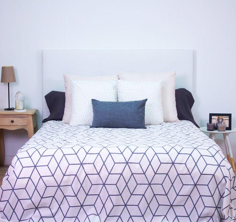 décorer la chambre de style nordique - textile