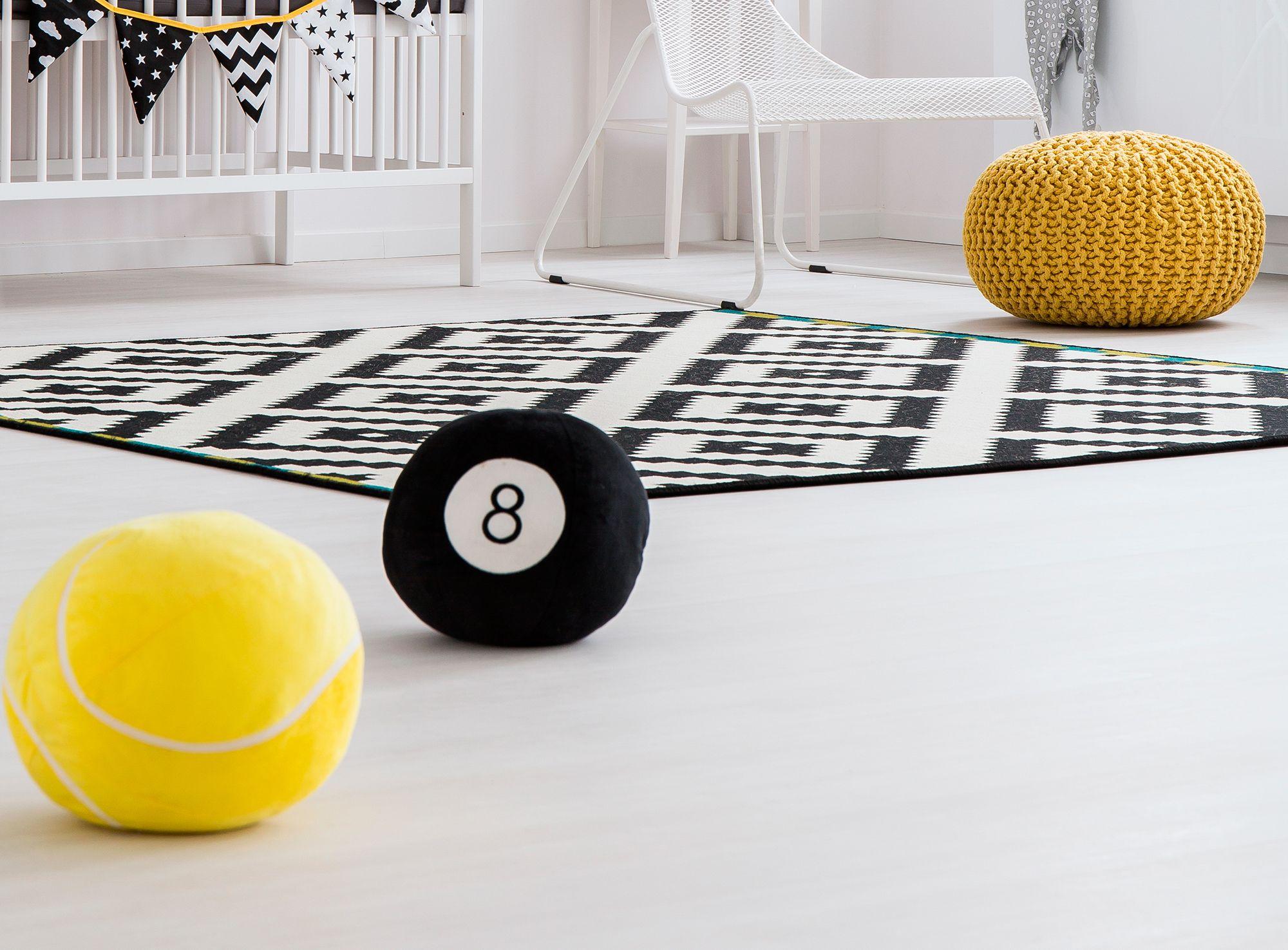 décorer la chambre de style nordique - tapis bouffant