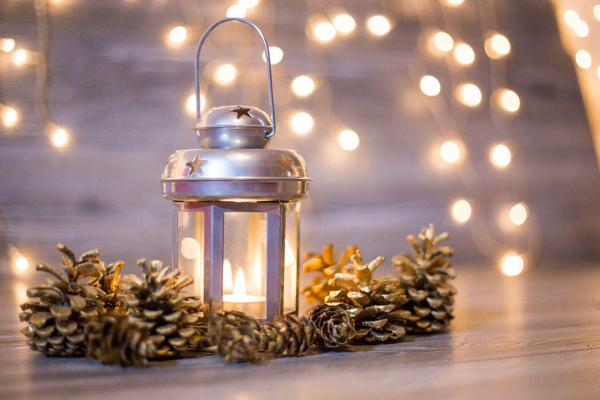 décorer la chambre de style nordique - bougies