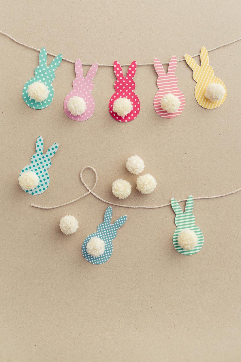 Faire une guirlande décorative de Pâques