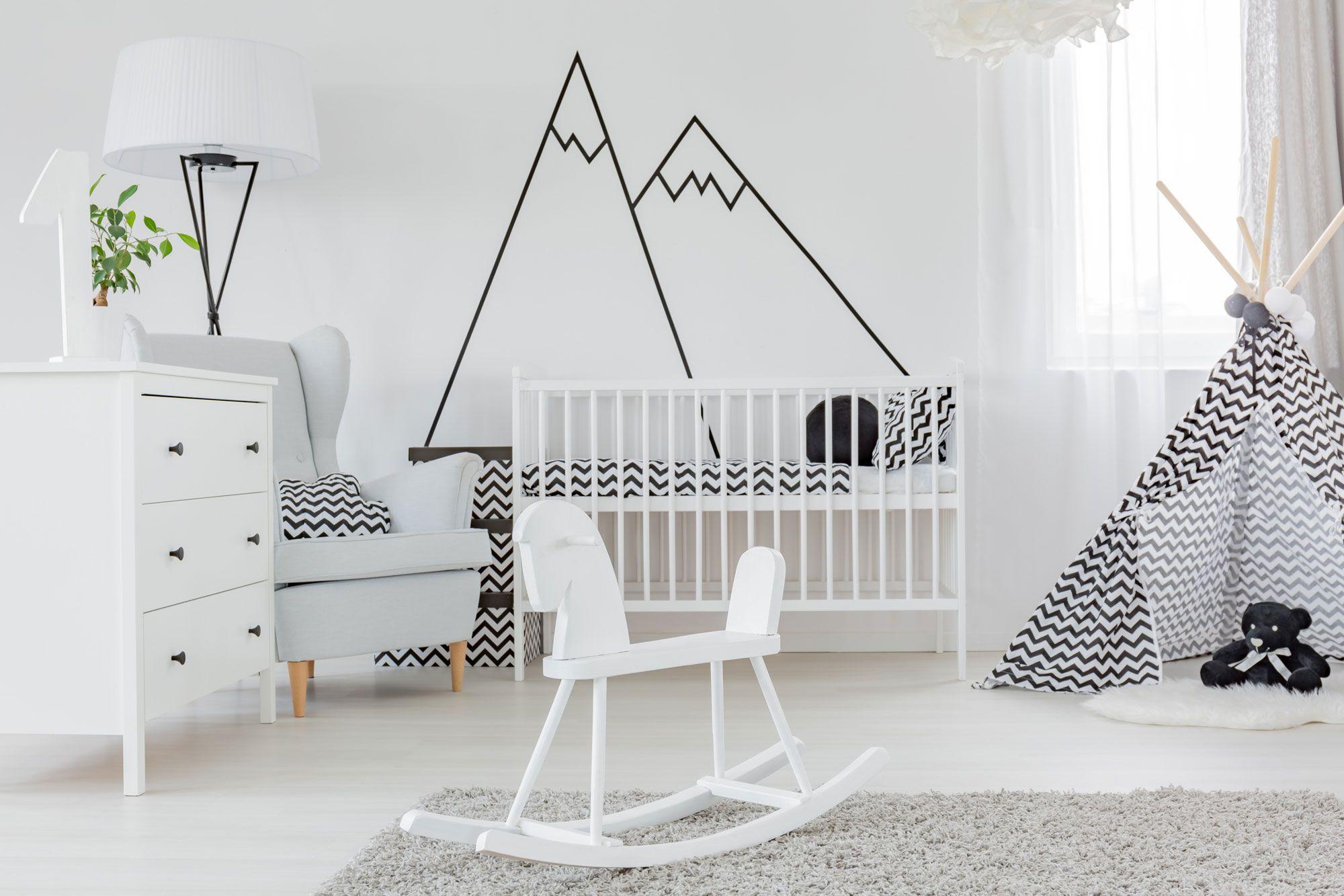 Déco enfant minimaliste noir et blanc