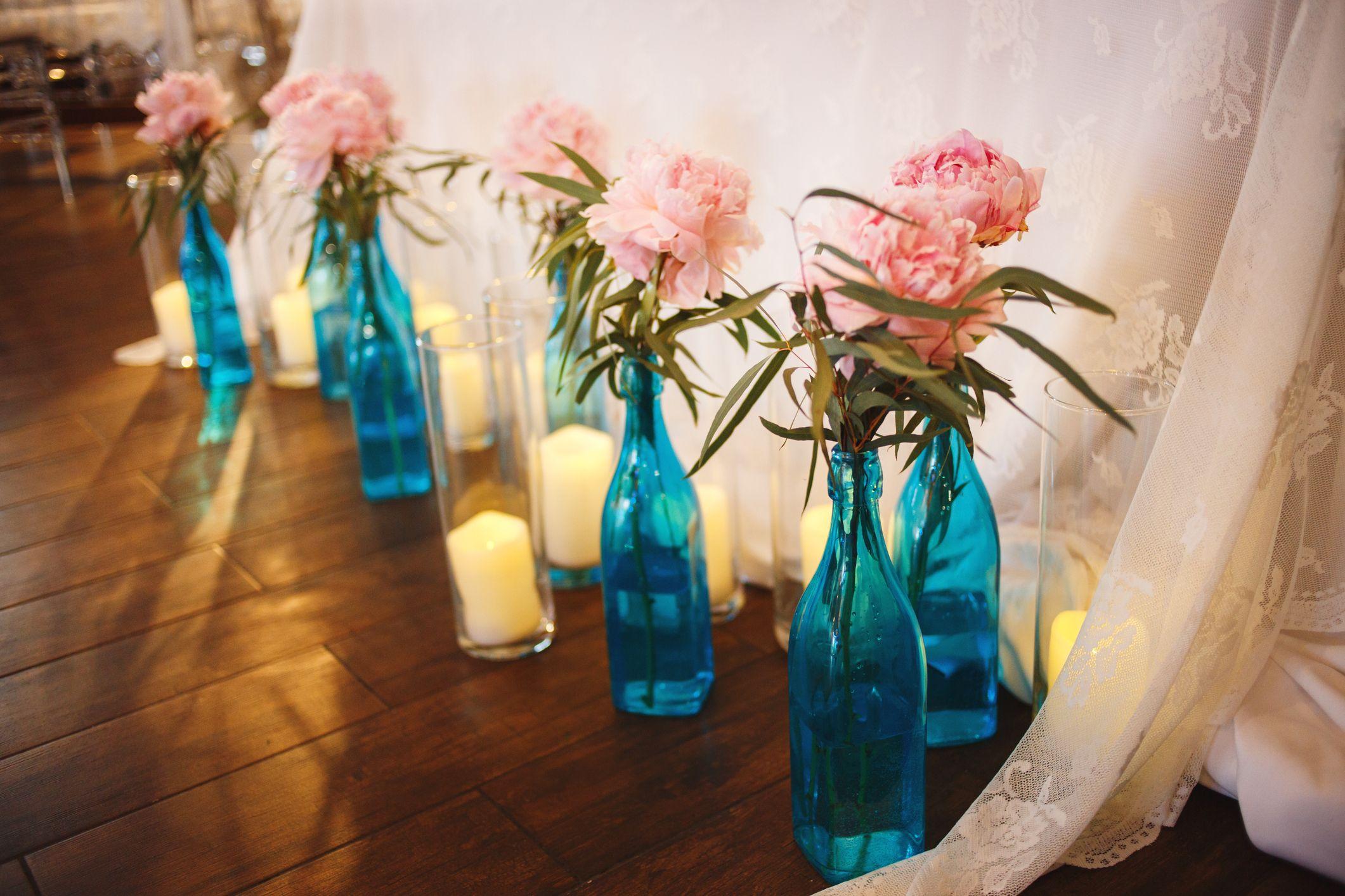fleurs en bouteilles