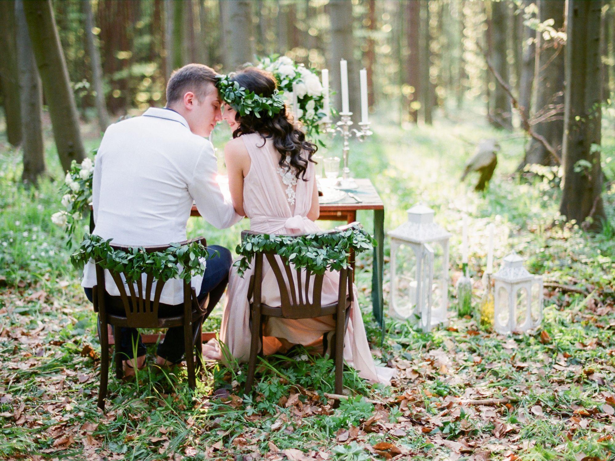 Mariage avec des fleurs