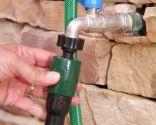 Placement automatique de l'enrouleur de tuyau