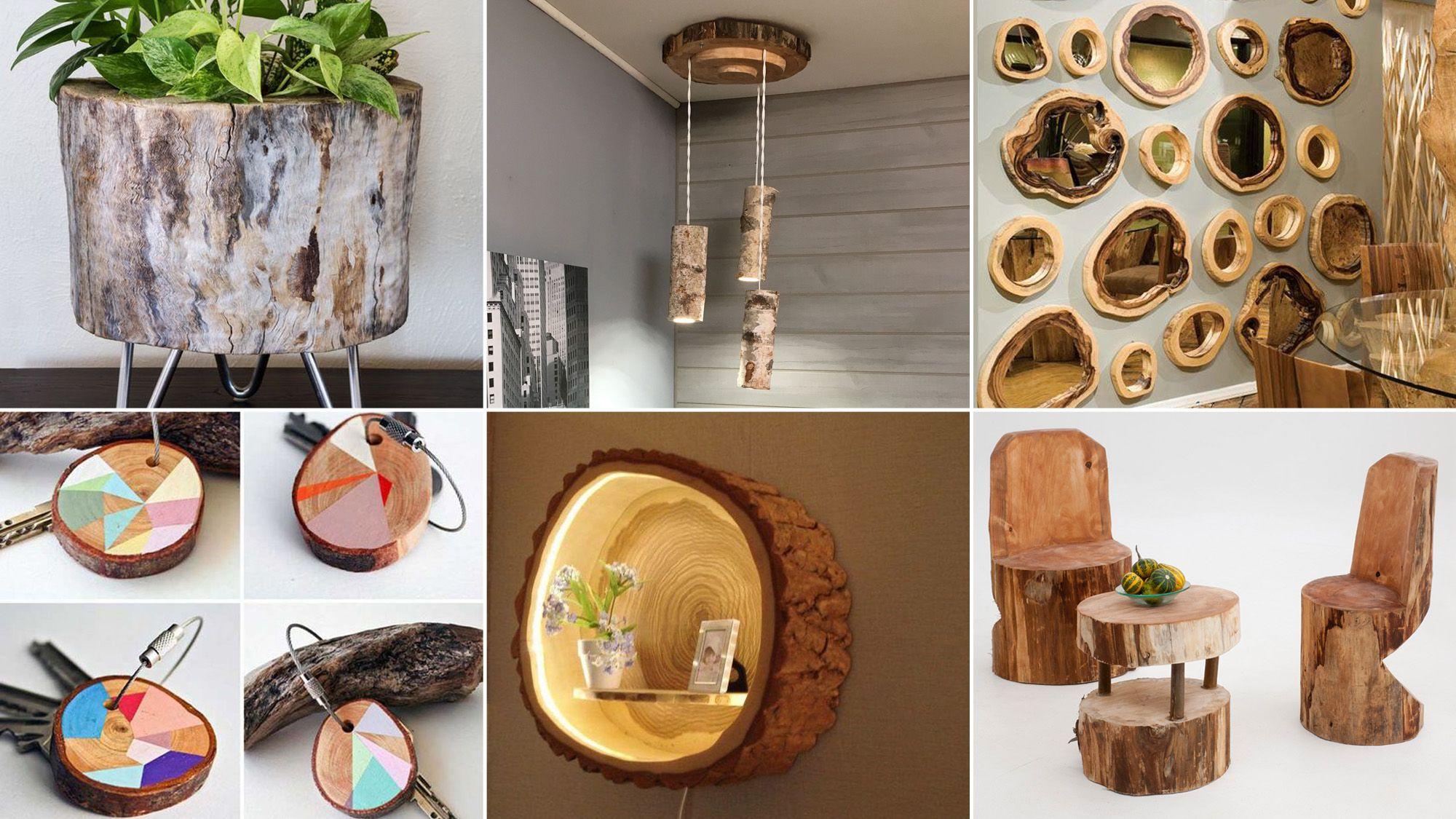 Idées de bricolage avec des bûches de bois