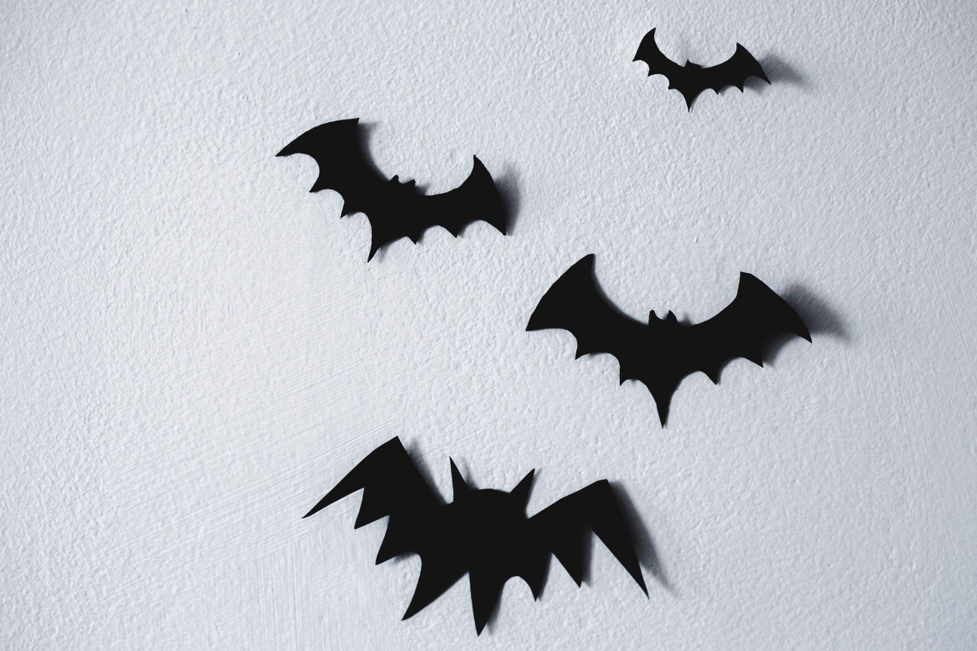Des chauves-souris pour décorer le mur d'Halloween