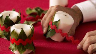 Décoration traditionnelle pour une table de Noël