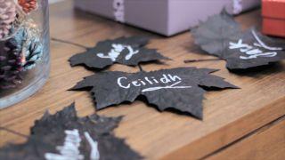 Peindre et décorer les feuilles séchées - Étape 4