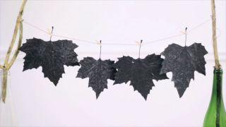 Peindre et décorer les feuilles séchées - Étape 3