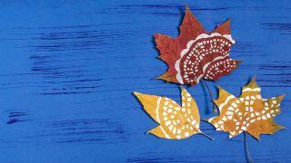 Peindre des mandalas sur des feuilles sèches (très facile) - Étape 3