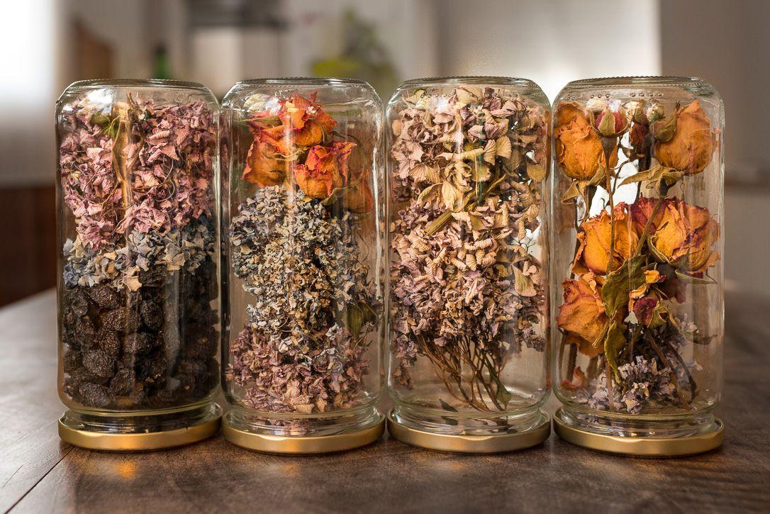 idées pour décorer la maison en automne - pots Mason