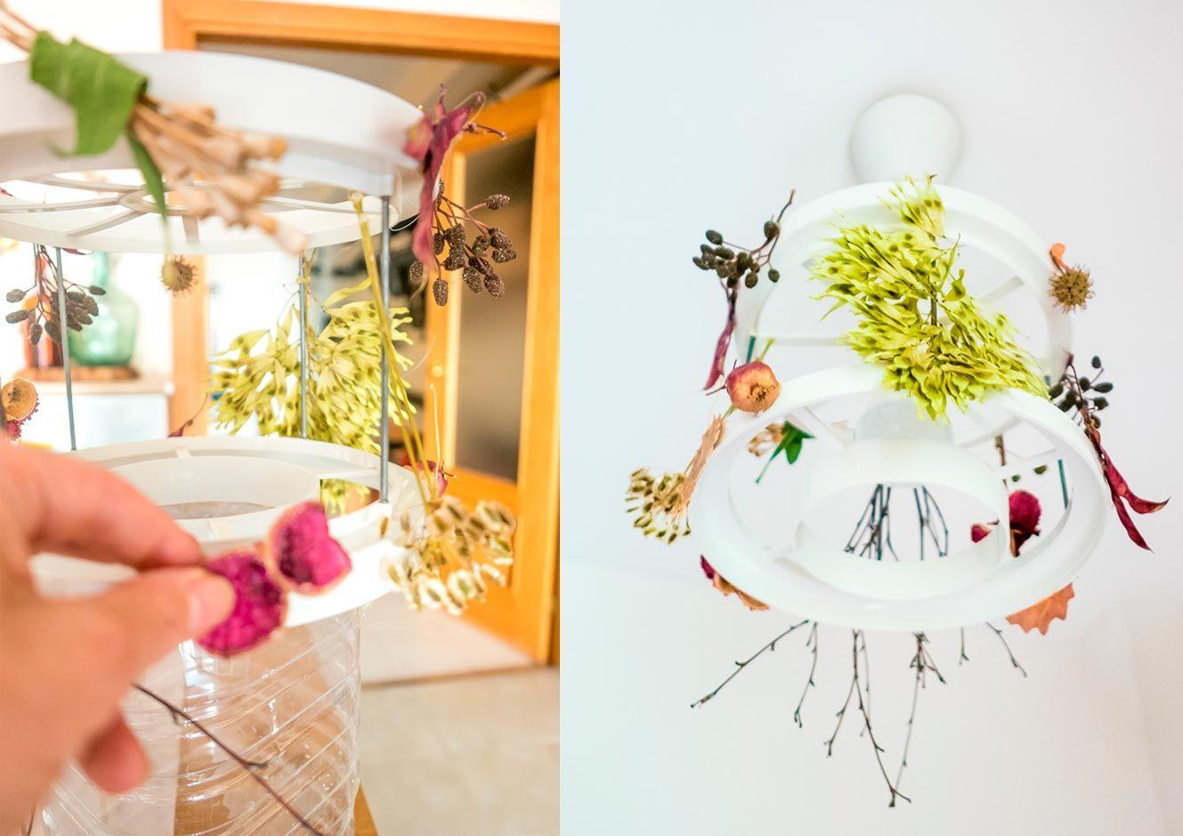 idées pour décorer la maison en automne - lampe