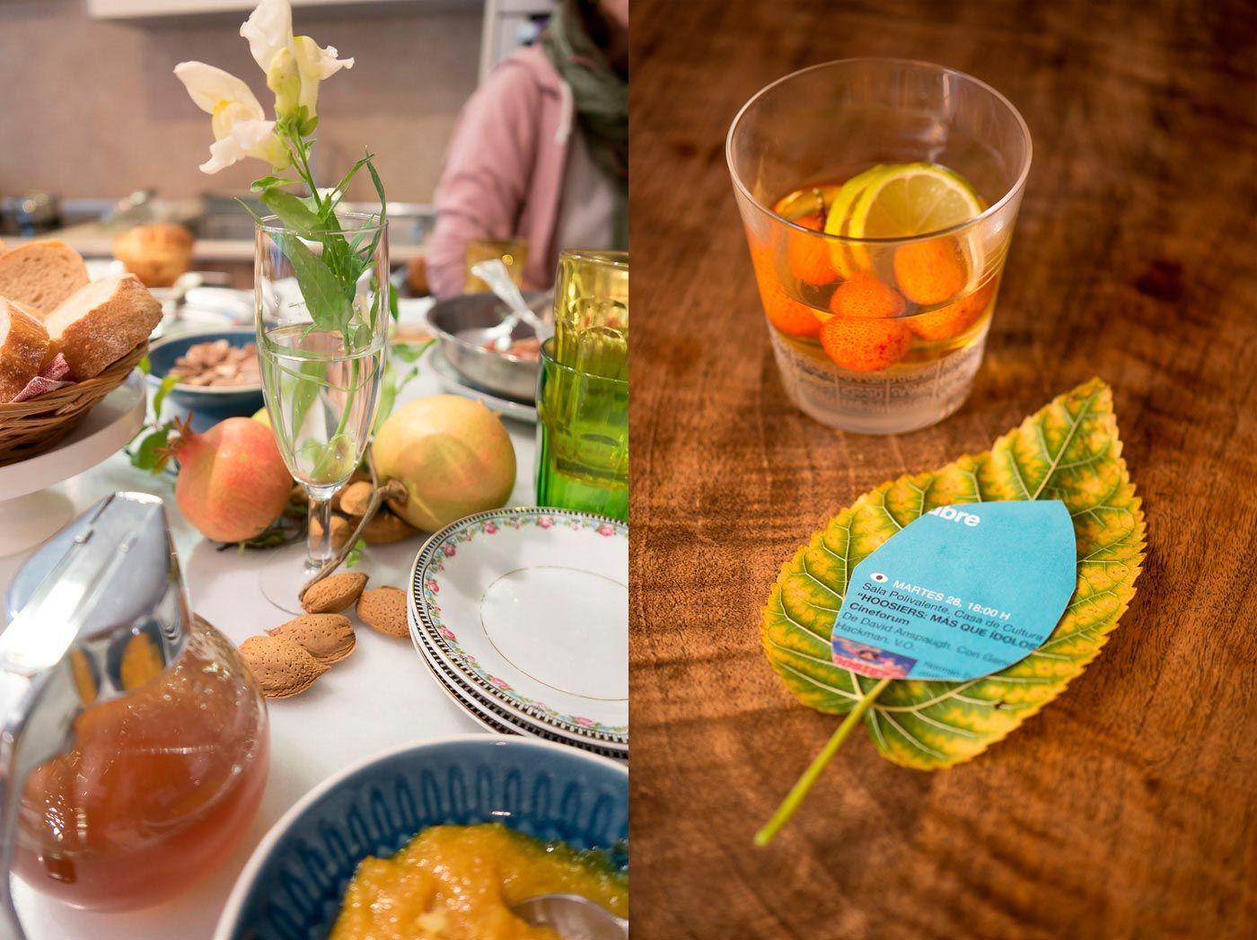 Idées de décoration de maison d'automne - table
