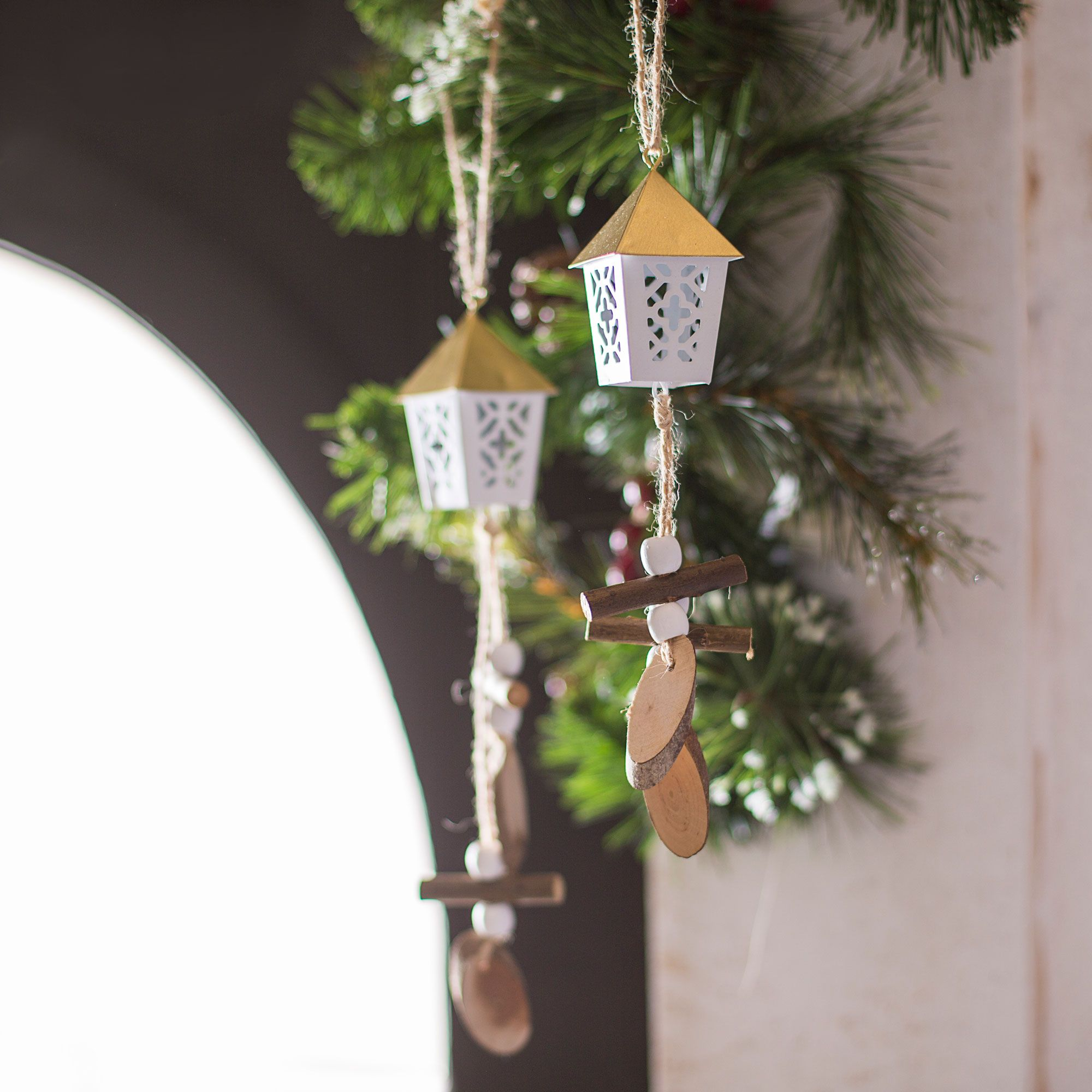 Décoration de Noël dans un style naturel