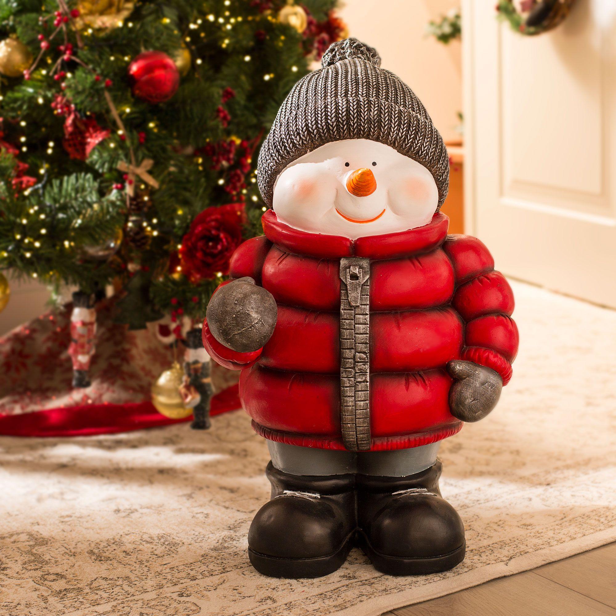 Décoration de Noël traditionnelle en rouge, blanc et vert