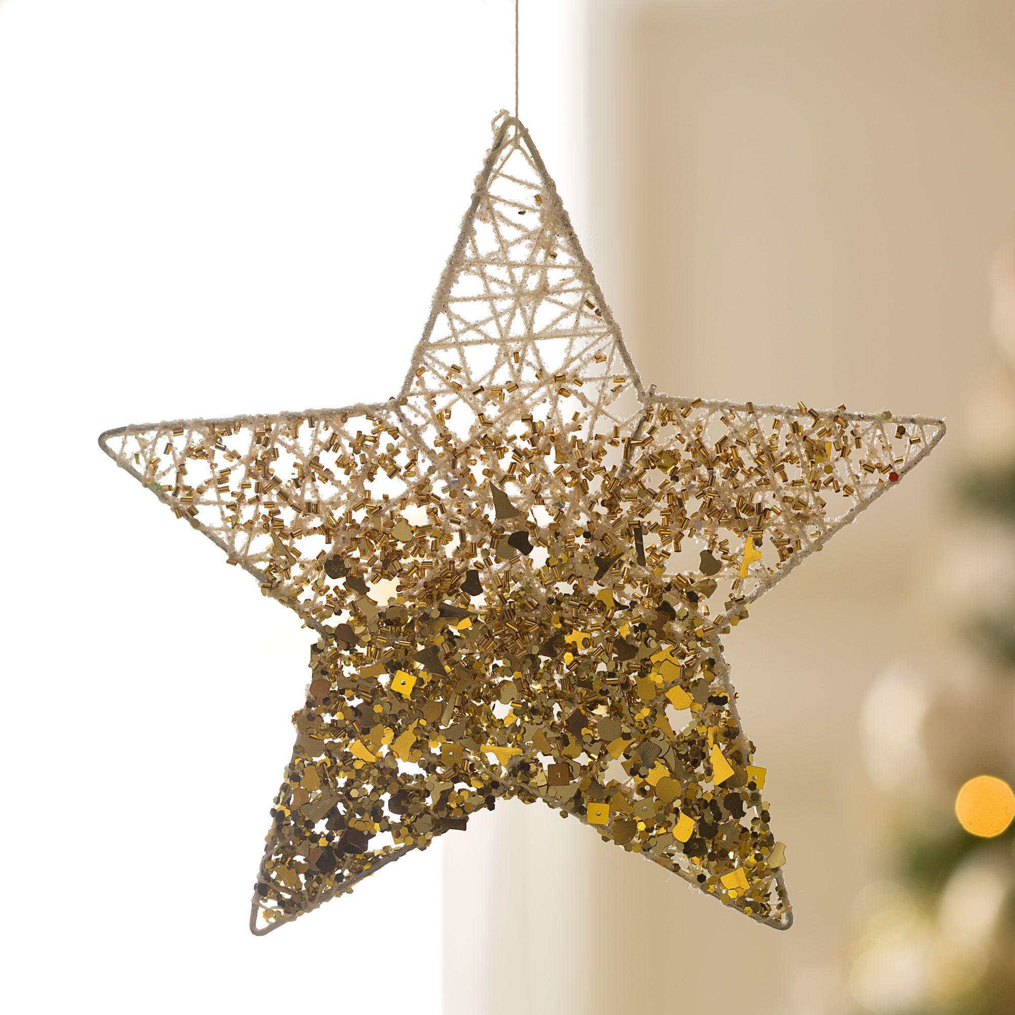 Décoration de Noël en argent et or