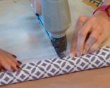 chaise ancienne peinture et rembourrage - étape 6