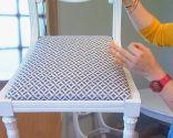chaise antique peinture et rembourrage - étape 9