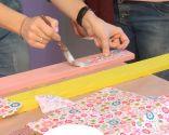 Recouvrir le mur de planches de bois, de peinture et de découpage - étape 2