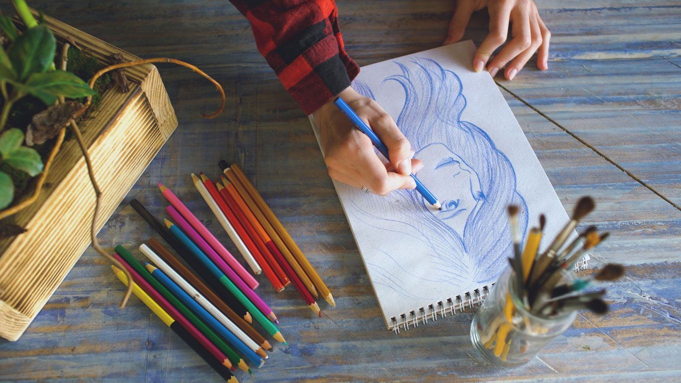 Choisissez le bon matériau pour le dessin.