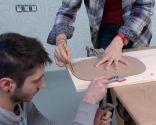 Créer une table de chevet avec bol en métal - étape 2