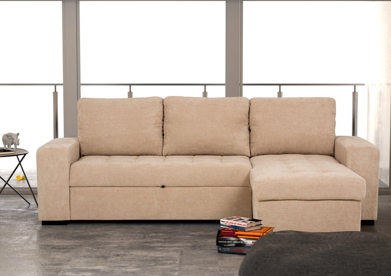 Canapé méridienne réversible en tissu avec lit - Modèle HARRY by Conforama