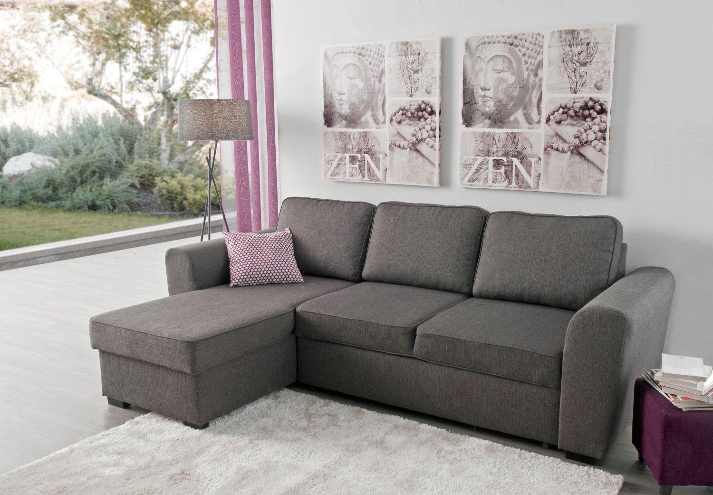 Canapé méridienne réversible avec lit et commode - Modèle ASTON by Conforama