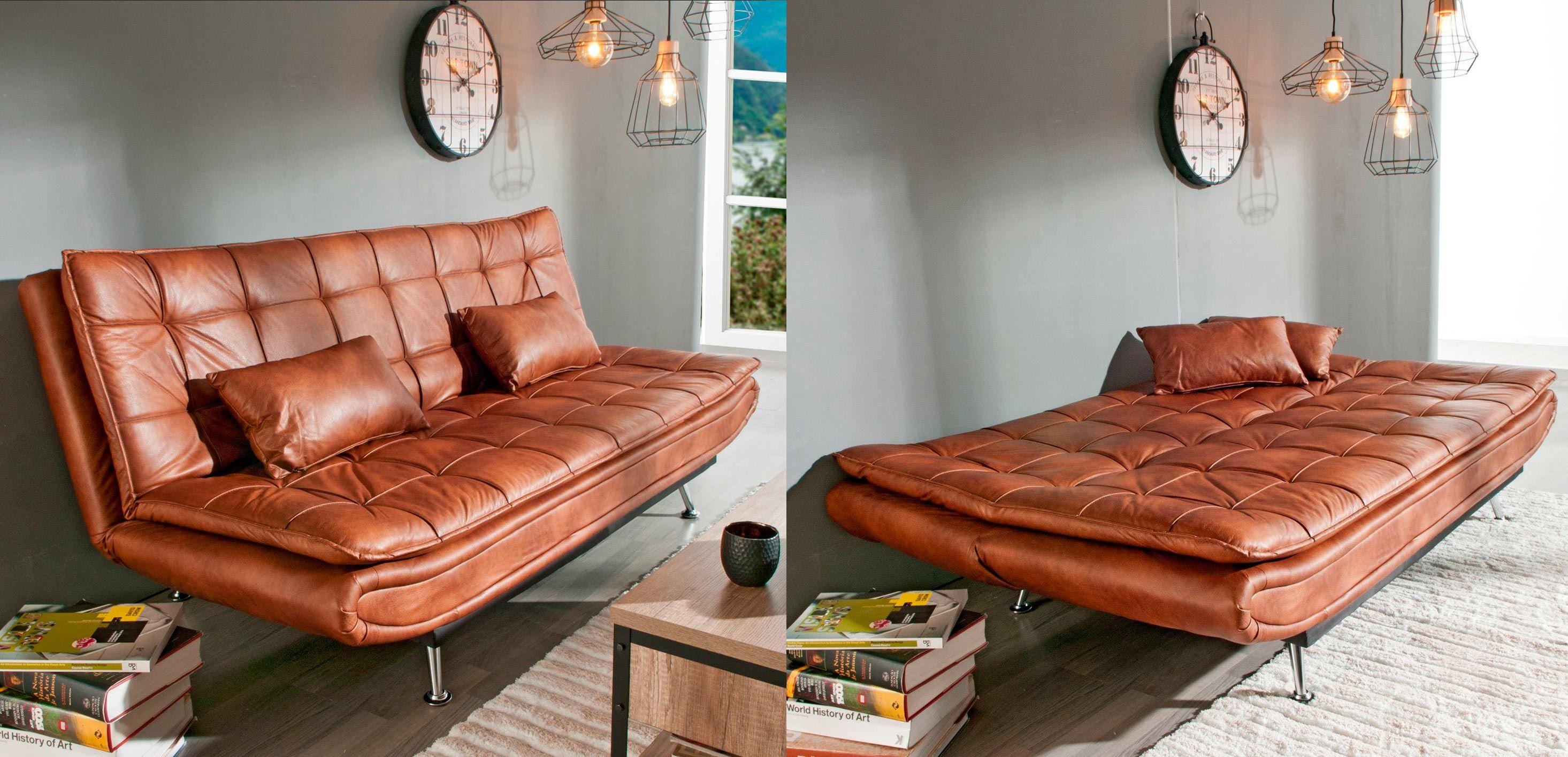 Canapé-lit en simili cuir - modèle WILLEM par Conforama