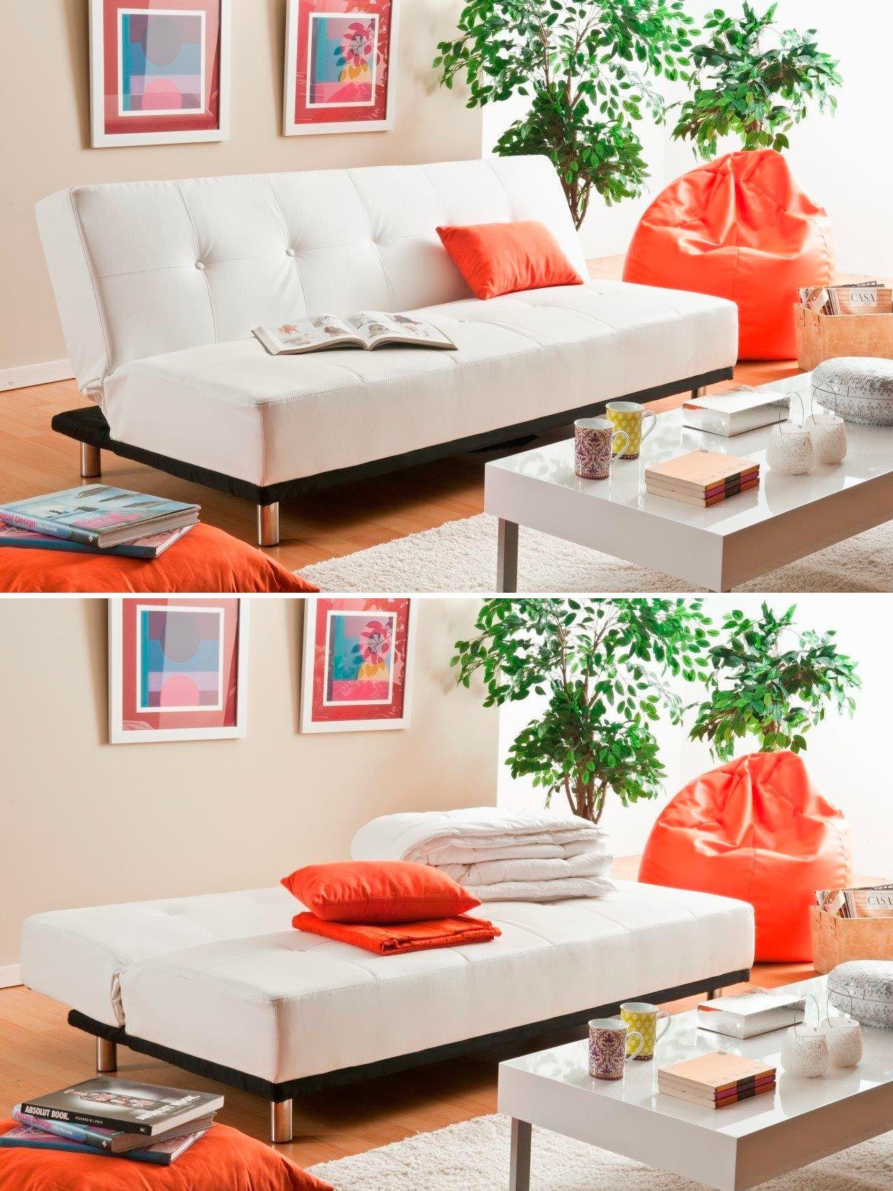 Canapé-lit en cuir synthétique - modèle TROISIEME par Conforama