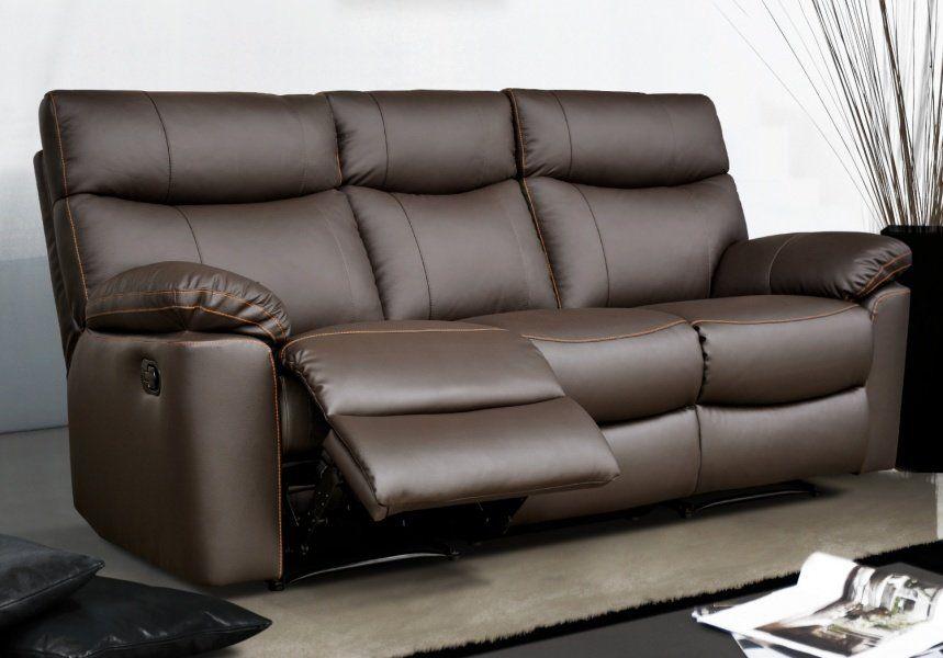 Canapé relax en tissu électrique - Modèle SHARONA by Conforama