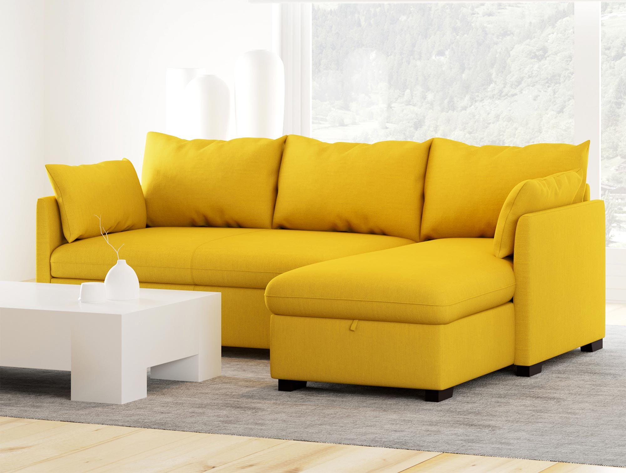 Canapé méridienne avec lit réversible en tissu - Modèle COSY - Conforama