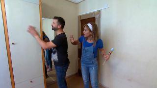 Peindre le placard de la chambre vert - étape 1