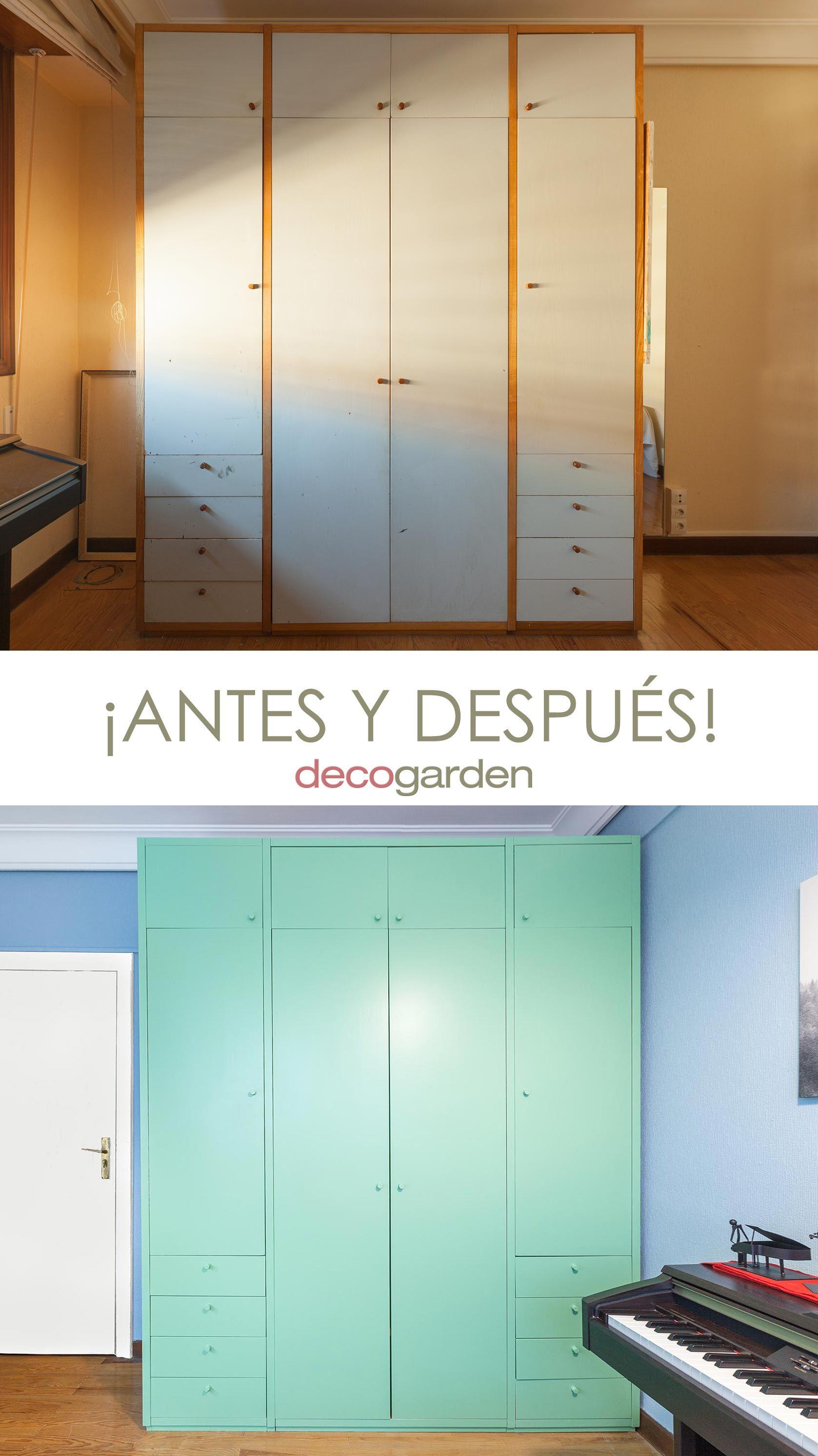 peindre une armoire verte - avant et après