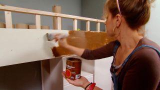 Peinture effet bois avec veines - étape 2