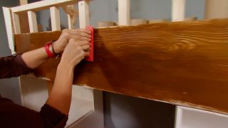 Peinture effet bois avec grain - étape 4