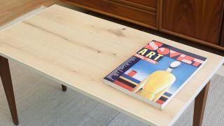 Faire un plateau de table en bois - résultat