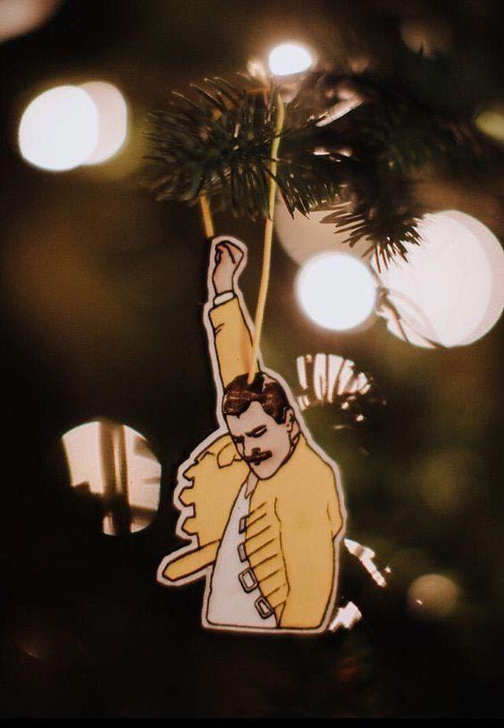 Ornement d'arbre de Noël Freddie Mercury