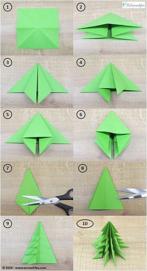 Comment faire des sapins en papier