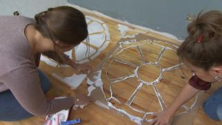 Tapis peints: placez-le correctement sur le sol