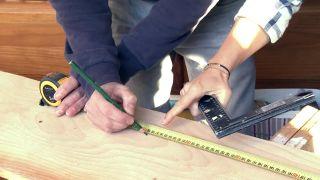 Revêtement du mur avec du bois de pin - Étape 2