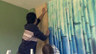 Revêtement du mur avec du bois de pin - Étape 5