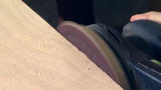 Revêtement du mur avec du bois de pin - Étape 3