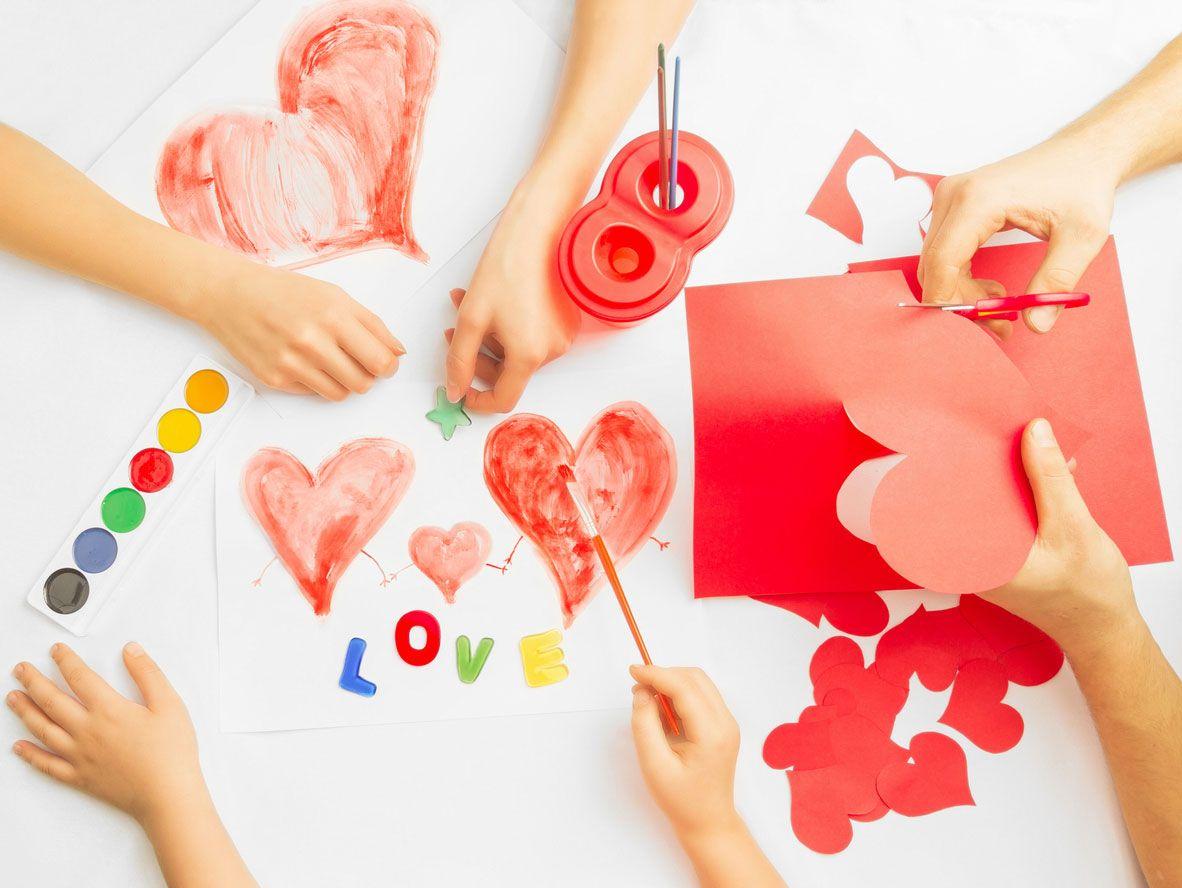 Carte de la Saint-Valentin avec des aquarelles