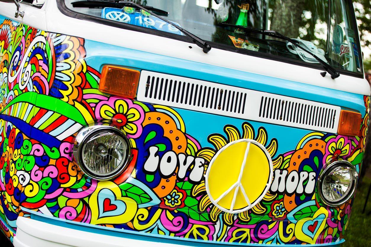 Vinyle hippie pour camionnettes.
